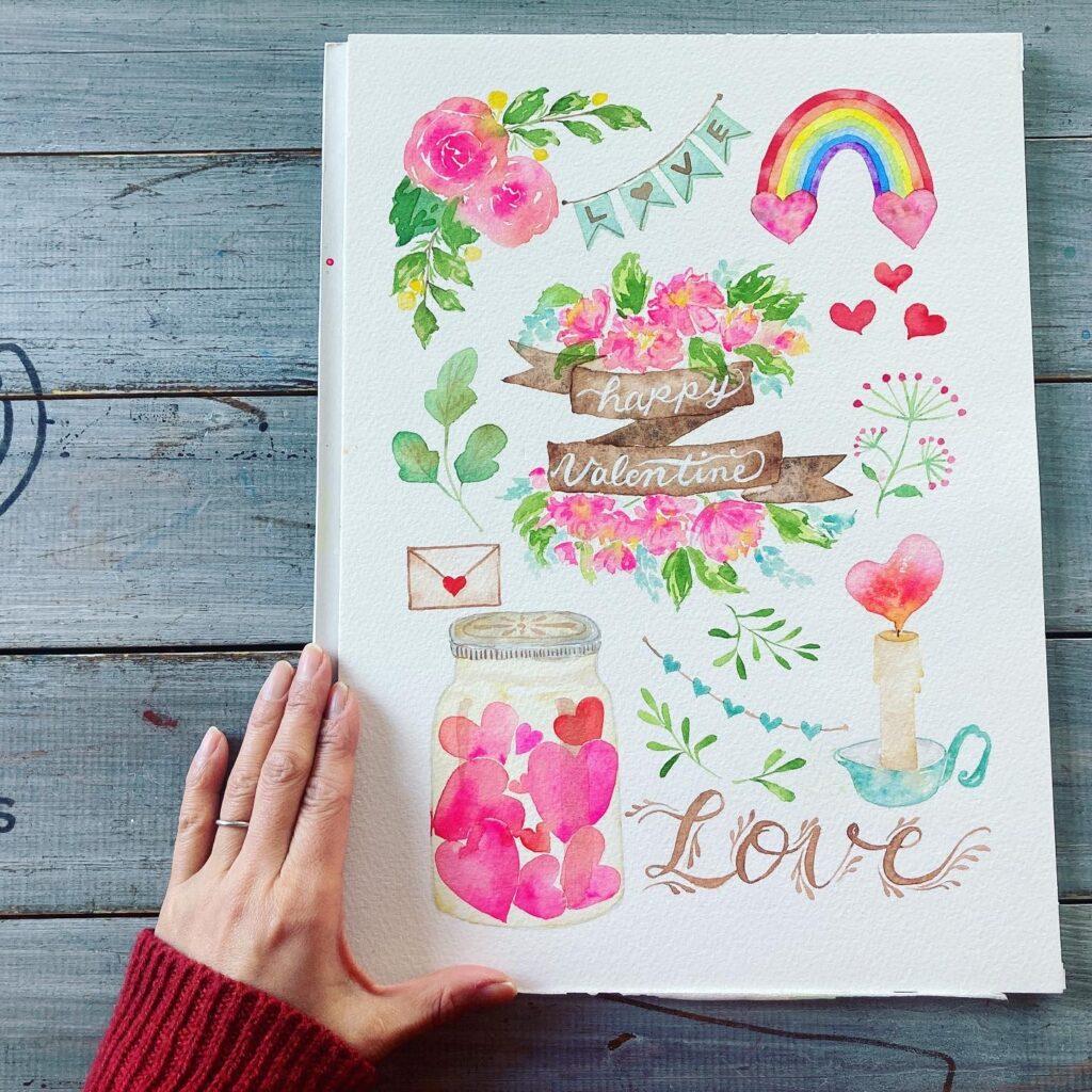 illustration valentine2021