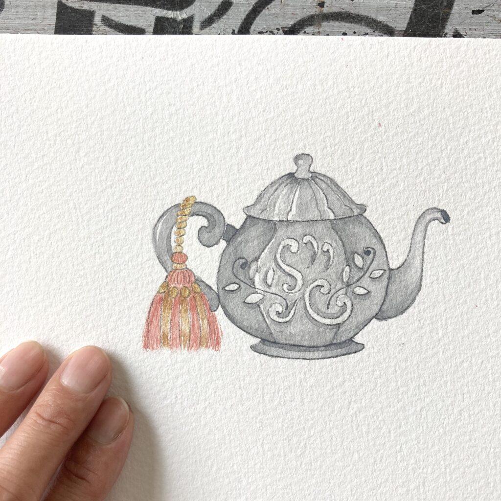 illustration teapot
