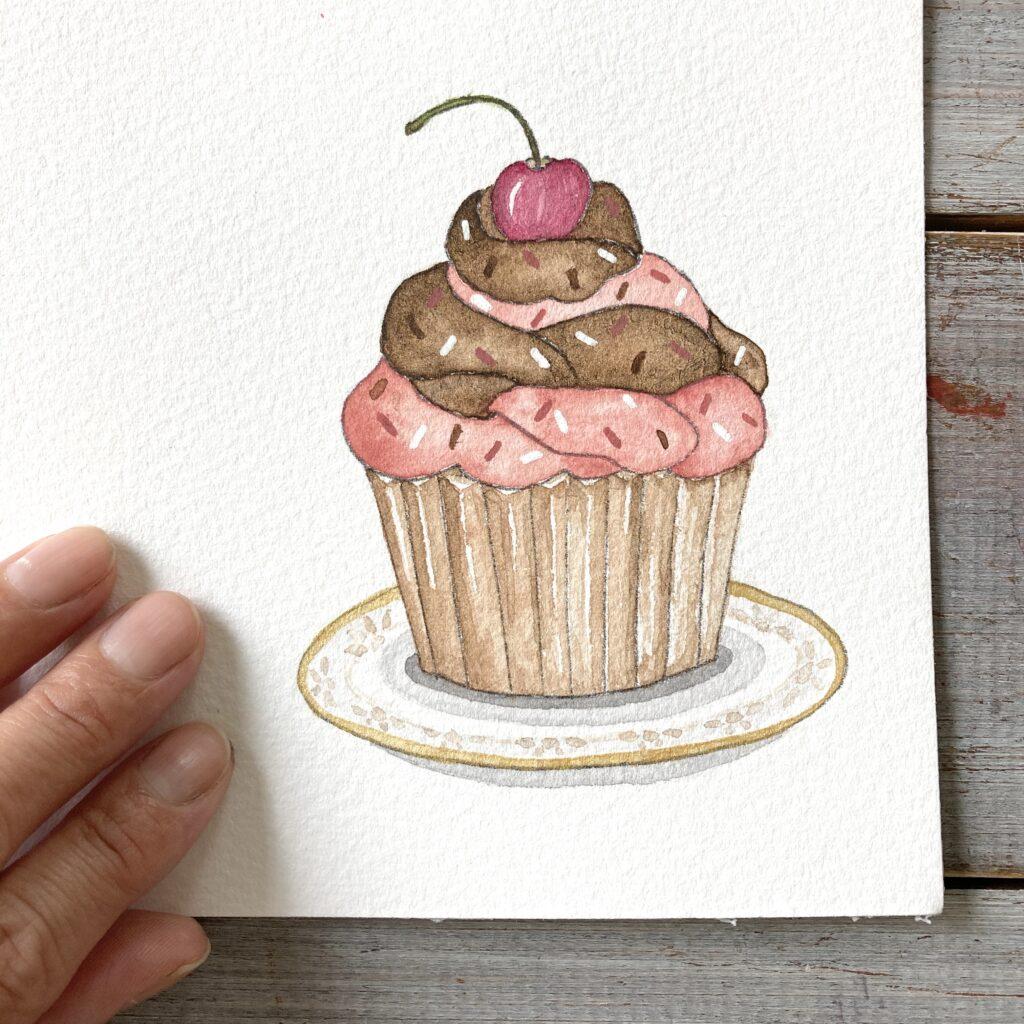illustration cupcake