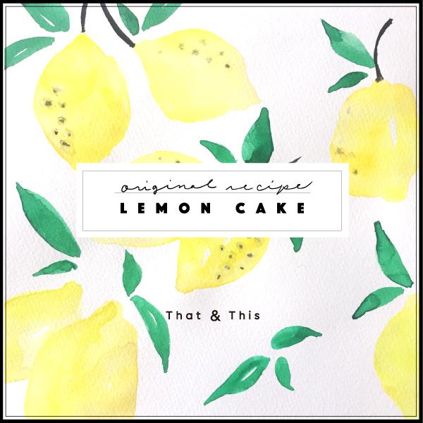 Illustration lemon cake
